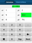 linear interpolation equation calculator android app