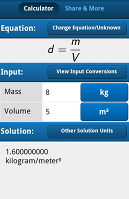 Density equation calculator android app